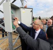 مشروع تأهيل شبكات الكهرباء بالضفة الغربية