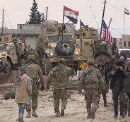 الجيش السوري  والجيش الامريكي  في سوريا