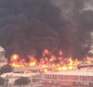 حريق عجمان