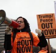 مسيرات نسائية ضد ترامب