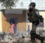 هدم منزل الاسير ابو حميد في مخيم الامعري