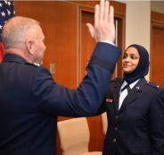 واعظة اسلامية في الجيش الامريكي