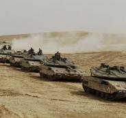 القوات البرية الاسرائيلية وغزة