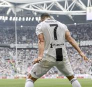اول هدف لرونالدو في الدوري الايطالي