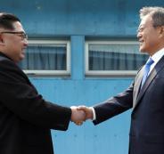 الزعيم الكوري الجنوبي والشمالي