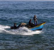 زوارق الصيادين الفلسطينيين