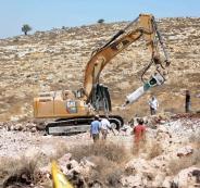 تجريف اراضي المواطنين في الخليل