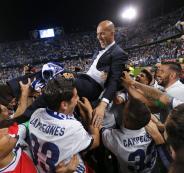 ماذا قال رئيس ريال مدريد عن زيدان بعد التتويج بلقب