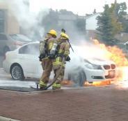 سيارات BMW تشتعل