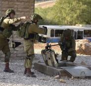 تندريبات الجيش الاسرائيلي في المناطق المأهولة بالسكان