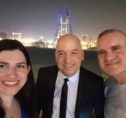 صحفيون اسرائيليون في ورشة المنامة