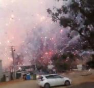 انفجار مخزن للمفرقعات في قلنسوة