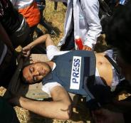 اصابة صحفيين في غزة