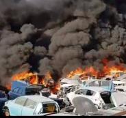 اندلاع جريق في مشطف للسيارة في عناتا