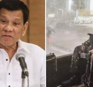الرئيس الفلبيني والتبول في الشوارع