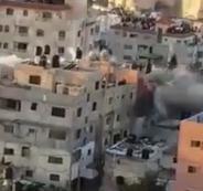 تفجير منزل عائلة ابو حميد في رام الله