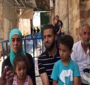 عائلة مصرية ترابط على أبواب الأقصى