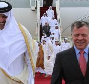 امير قطر في الاردن