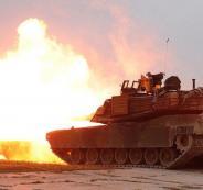 استهداف دبابة اسرائيلية بصاروخ موجه