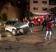 7 إصابات بحادث سير غرب نابلس