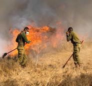 اندلاع حرائق في مستوطنات غلاف غزة