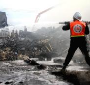 وفيات في حريق ممخيم النصيرات