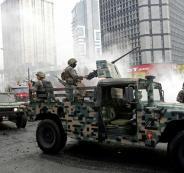 الجيش اللبناني  والتظاهرات في لبنان وحركة امل وحزب الله