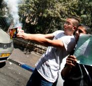 اطلاق العاب نارية في رام الله