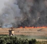 اشتعال حرائق في مستوطنات غزة