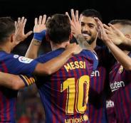 برشلونة يحقق فوزه الاول في الدوري الاسباني