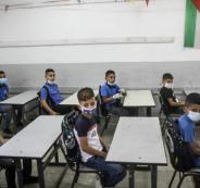 المعلمين الفلسطينيين والاضراب