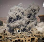 قصف النظام السوري لمخيم اليرموك