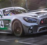 مرسيدس AMG GT4 تظهر على حلبات السباق قبل ظهورها الرسمي