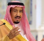 الملك سلمان والوفد القطري
