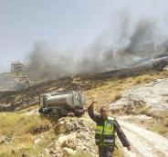 حرائق في الضفة الغربية