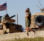 القوات الامريكية تحفر في منبج