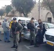 اعتقال طاقم تلفزيون فلسطين في القدس