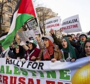 تظاهرة في واشنطن ضد قرار ترامب حول القدس