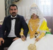 عروسان تركيان يحصلان على نقوط