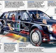 توصف بالقاعدة العسكرية المتنقلة.. تعرف على خصائص سيارة ترامب بالسعودية