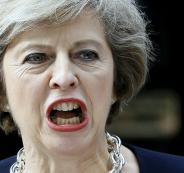 رئيسة وزراء بريطانيا: قصفنا سوريا ليس لعيون ترامب