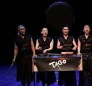 فرقة تاجو تقدم عرضا في مهرجان فلسطين الدولي