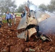 سقوط طائرة اف 16