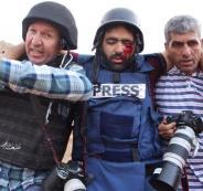 اصابة صحفي فلسطيني