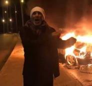 اردني يحرق سيارته في مأدبا