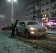 الشرطة الفلسطينية والثلوج