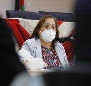 وزيرة الصحة والحالة الوبائية في فلسطين