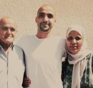 الأسير بلال عودة مع عائلته