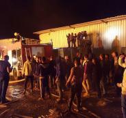 إخماد حريق في مصنع كرتون في برطعة
