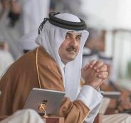امير قطر والرئيس الايطالي